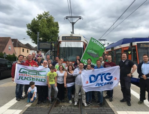 Straßenbahnfahrt 2018 in Darmstadt
