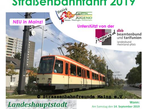 GDL Straßenbahnfahrt am 14.09. in Mainz